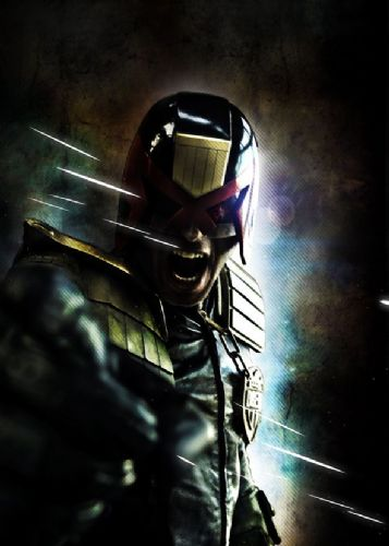 2000AD - JUDGE DREDD - DREDD BLACK ART 2 canvas print - self adhesive poster - photo print